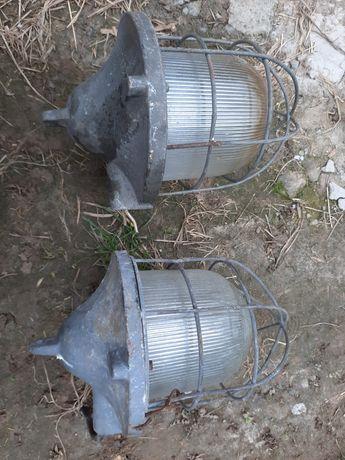 2sztuki stara lampa przemysłowa  prl  loft vintage industrial