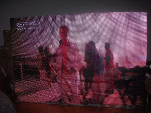 Painel video led p10 3x2m cabine rental com cases e send box no