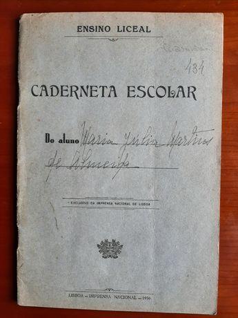 Caderneta escolar 1958