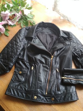 Натуральна шкіряна куртка, курточка шкіра косуха