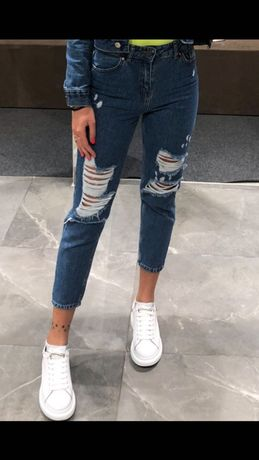 Новые джинсы рваные Bershka
