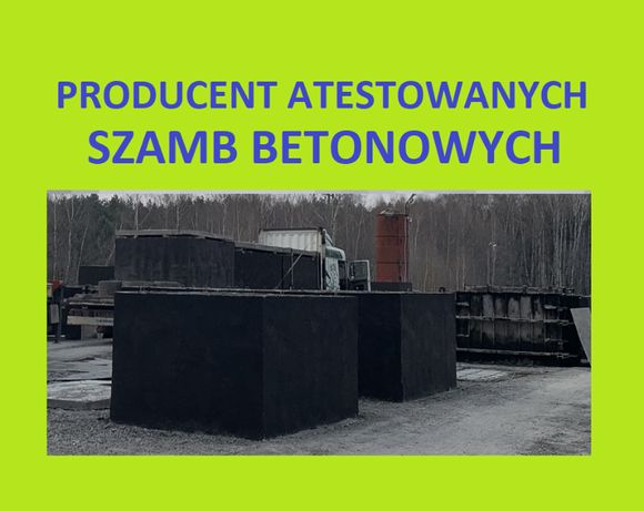 Zbiorniki betonowe na deszczówkę betonowy szambo szamba 3,4,5,10,12m3