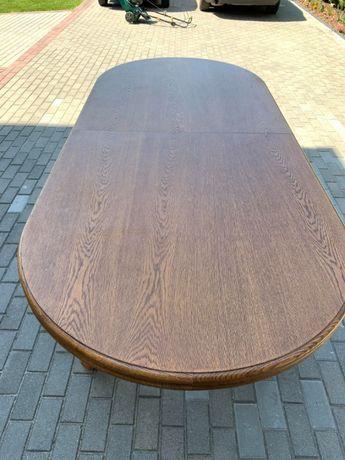 Rozkładany stół dębowy z zestawem 6 krzeseł