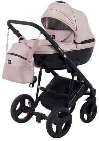 Коляска,Bair Crystal розовый перламутр коляска 2в1 для принцессы