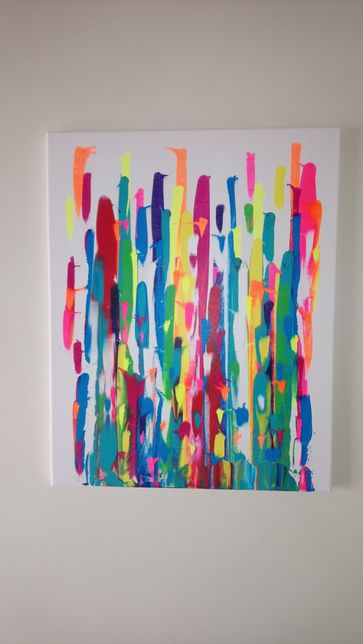 Tela acrílico abstracta