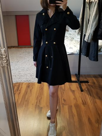 Granatowy płaszcz sukienka Ida Sjöstedt 36 S