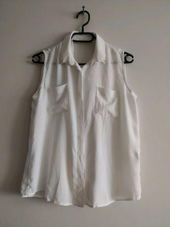 Bluzka biała z odkrytymi plecami rozm. M