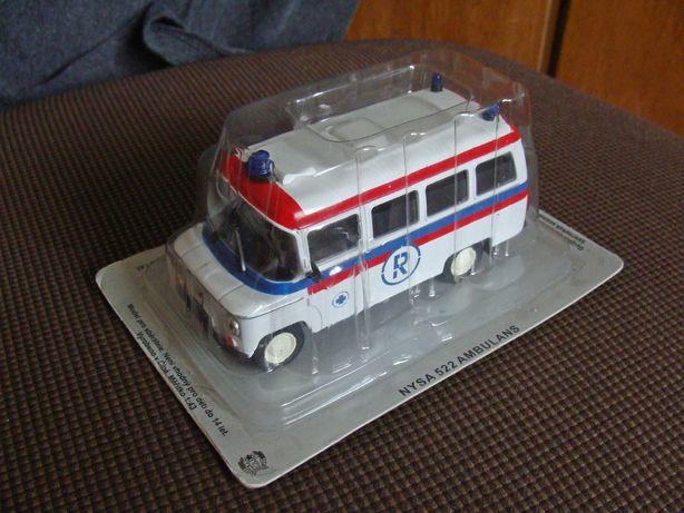 Kultowe Auta PRL Nysa 522 Ambulans model Deagostini skala 1:43