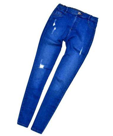 River island модные джинсы скинни с потёртостями. 12 лет