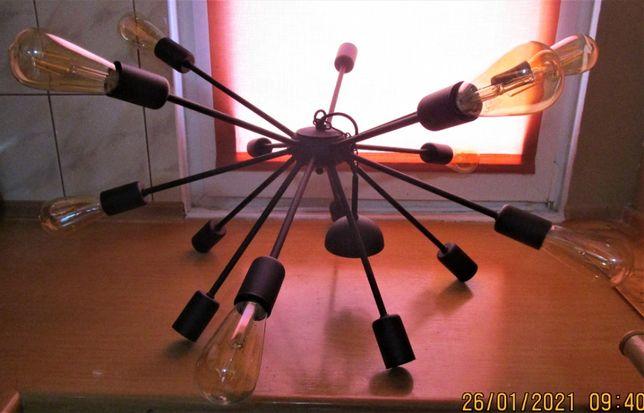 lampa wisząca , żyrandol - metalowa czarny mat