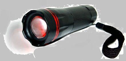 Latarka system LED T6 szperacz 500W ZOOM + RFX