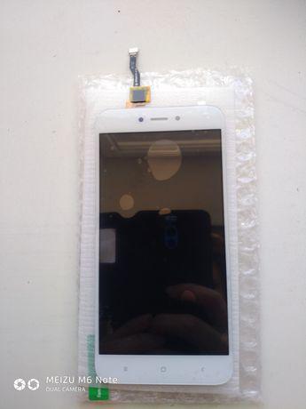 Дисплей Xiaomi А5 белый LCD экран,тачскрин,стекло защитное