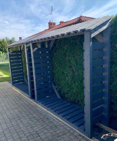 Drewutnia Drewno Porządna Jakość. 190x190x55cm Poznań Region