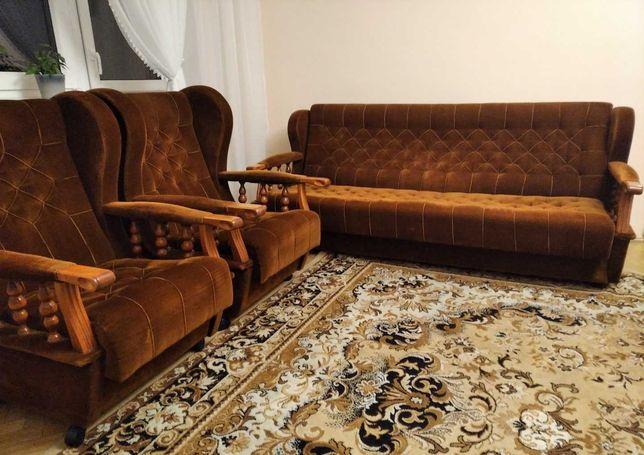 Komplet wypoczynkowy sofa + 2 fotele - stan bardzo dobry tanio !!!