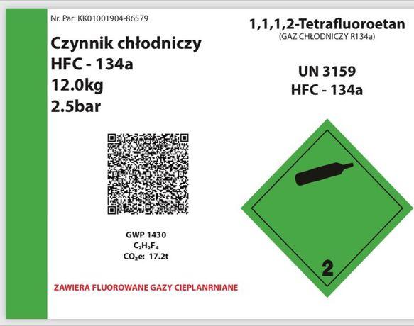 Czynnik chłodniczy / gaz do klimatyzacji R134a