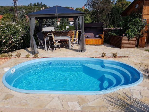 Basen ogrodowy Poliestrowy kąpielowy gotowy 4x2,5x1,25 PRODUCENT