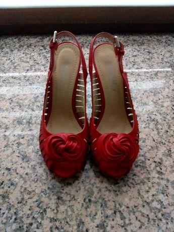 czerwone szpilki sandały Jenny Fairy 37