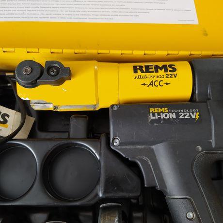 Zaciskarka rems mini-press 22 v szczęki typu v