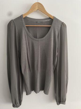 Szary krótki sweterek viceversa 40 L 38 M