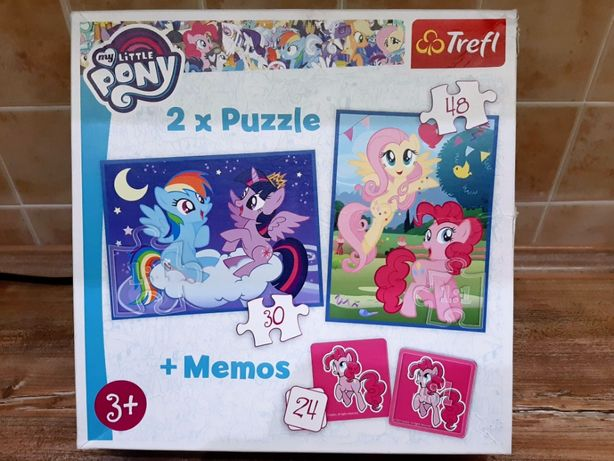PUZZLE Trefl 30 + 48 + MEMOS My Little Pony