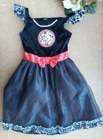 Карнавальное платье 7-8 лет Дисней Круэлла 101 далматинец Хеллоуин