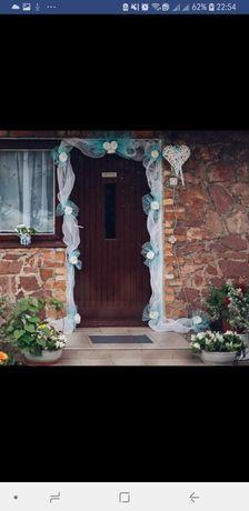 Korona na drzwi, dodatki ślubne