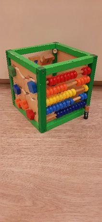 Деревянный развивающий куб