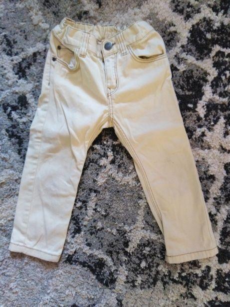 Spodnie chinosy dżinsy r. 92 H&M