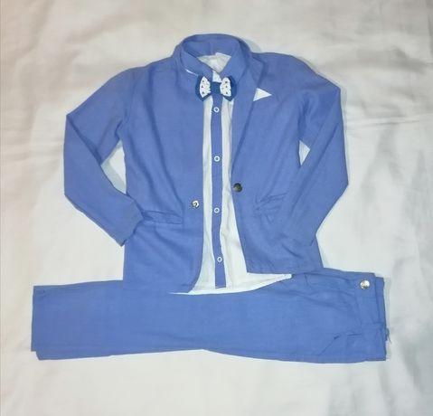 Нарядный костюм-тройка на выпускной, на первоклассника, на 116-122 см