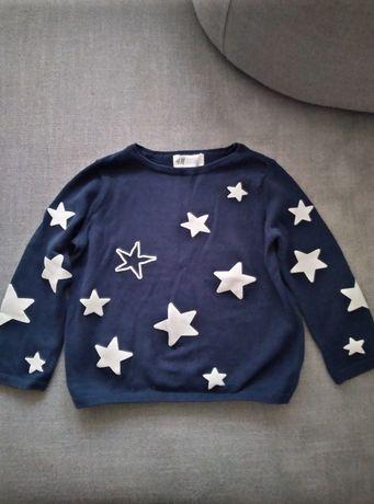 Sprzedam śliczny sweterek z H&m 98/104 na dziewczynkę
