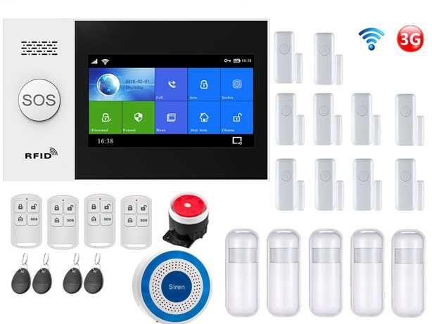 Alarme Casa/Vivenda sem fios GSM/3G/WiFi  Android/iOS Português (NOVO)