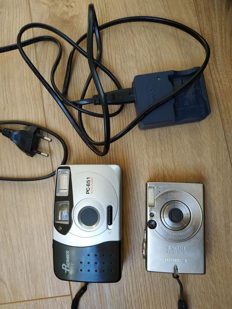 Zabytkowe aparaty cyfrowy i analogowy