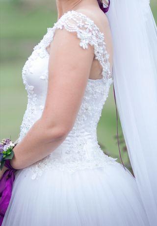 Suknia ślubna 165 + 7 cm obcas zdobienia