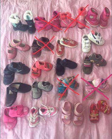 Взуття на дівчинку 1-2 років 20-25розмірів,шкіра,стан 5