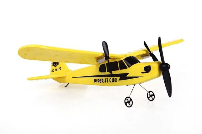 Avião Telecomandado RC radiomodelismo Cessna Amarelo 2.4ghz 2ch NOVO