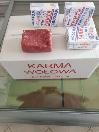 Karma, mięso mrożone wołowe 250 gram Dieta Barf