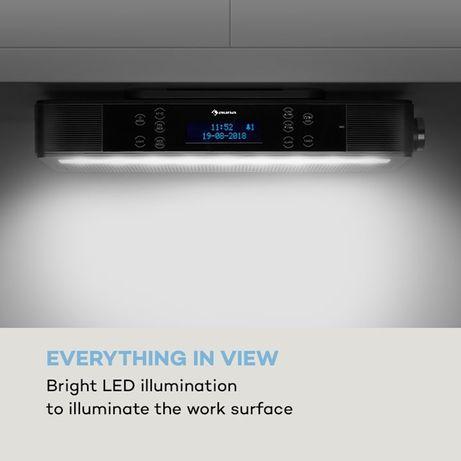 KR-140 Bluetooth radio kuchenne funkcja głośnomówiąca podświetlenie LE