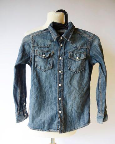 Koszula Dzinsowa Cubus 134 cm 9 lat Jeansowa Dzins Jeans Girls