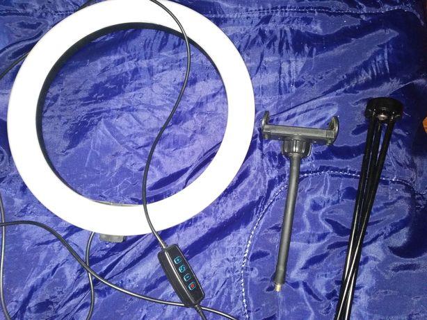 Ring Light (tripé e suporte de telemóvel)