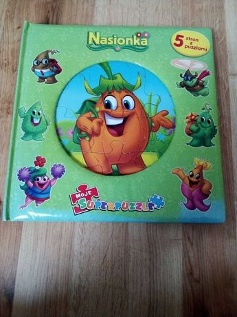 Książka 5 stron z puzzlami