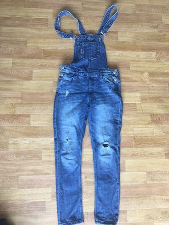 Комбинезон джинсовый . 11, 12, 13, 14 лет, джинсы