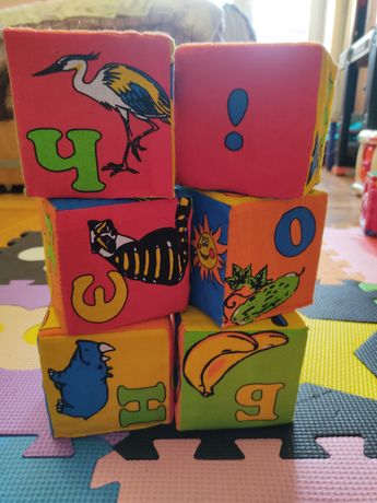Мягкие кубики, буквы, развивающие игры, конструктор