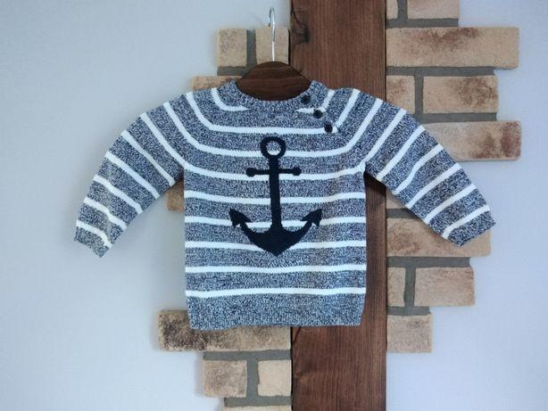 sweterek kotwica łaty HM 74 80
