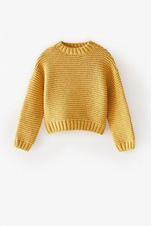 ZARA szenilowy sweter Z DZIANINY 122/128 DZIEWCZYNKA wyprzedaż