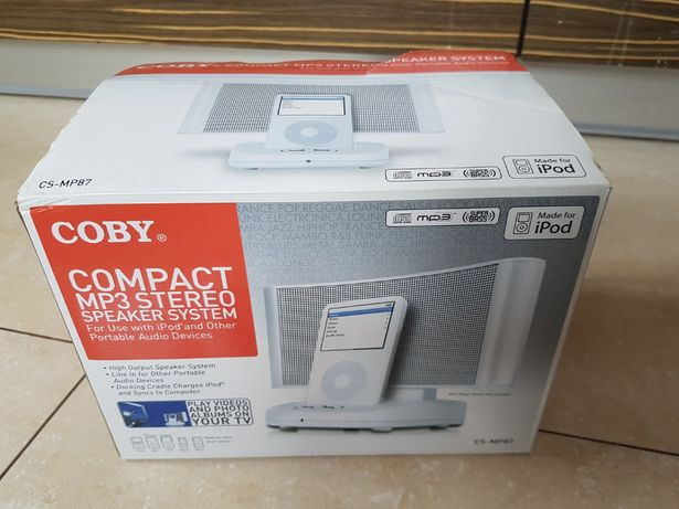 COBY Compact MP3 Stereo SPEAKER System