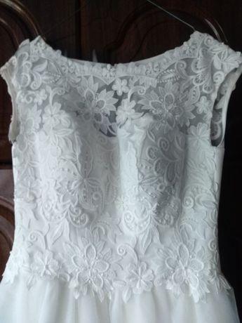 Ціну знижено!Весільне плаття+діадема