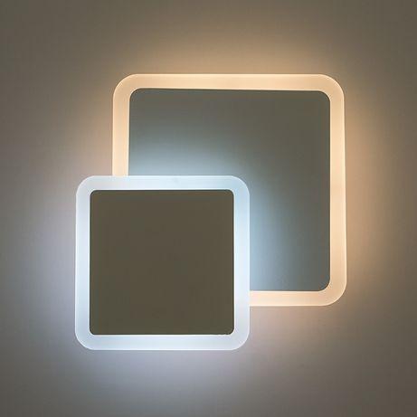 Бра светодиодные LED ГЕОМЕТРИЯ Квадрат 12W настенный светильник ЛЕД