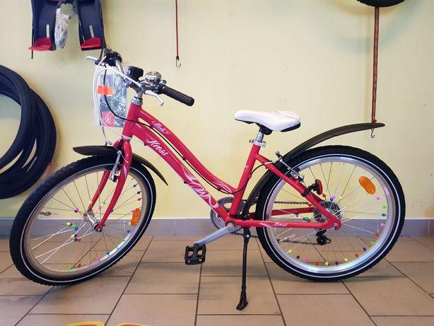 Rower dla Dziewczynki na kołach 24 cali. KROSS.  Super STAN!