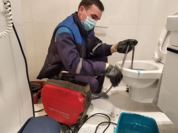 Срочная прочистка канализации, труб. Засоров туалета, унитаза, раковин