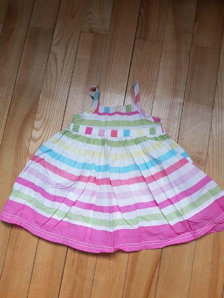 Sukienka dziewczęca rozmiar ok 80